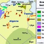 Carte de répartition des populations berbères
