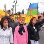 femmes berbères manifestant pour leur culture