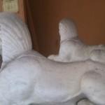 Sphinx du monument offert par la communauté juive de Nice au Duc de Savoie en signe de reconnaissance *